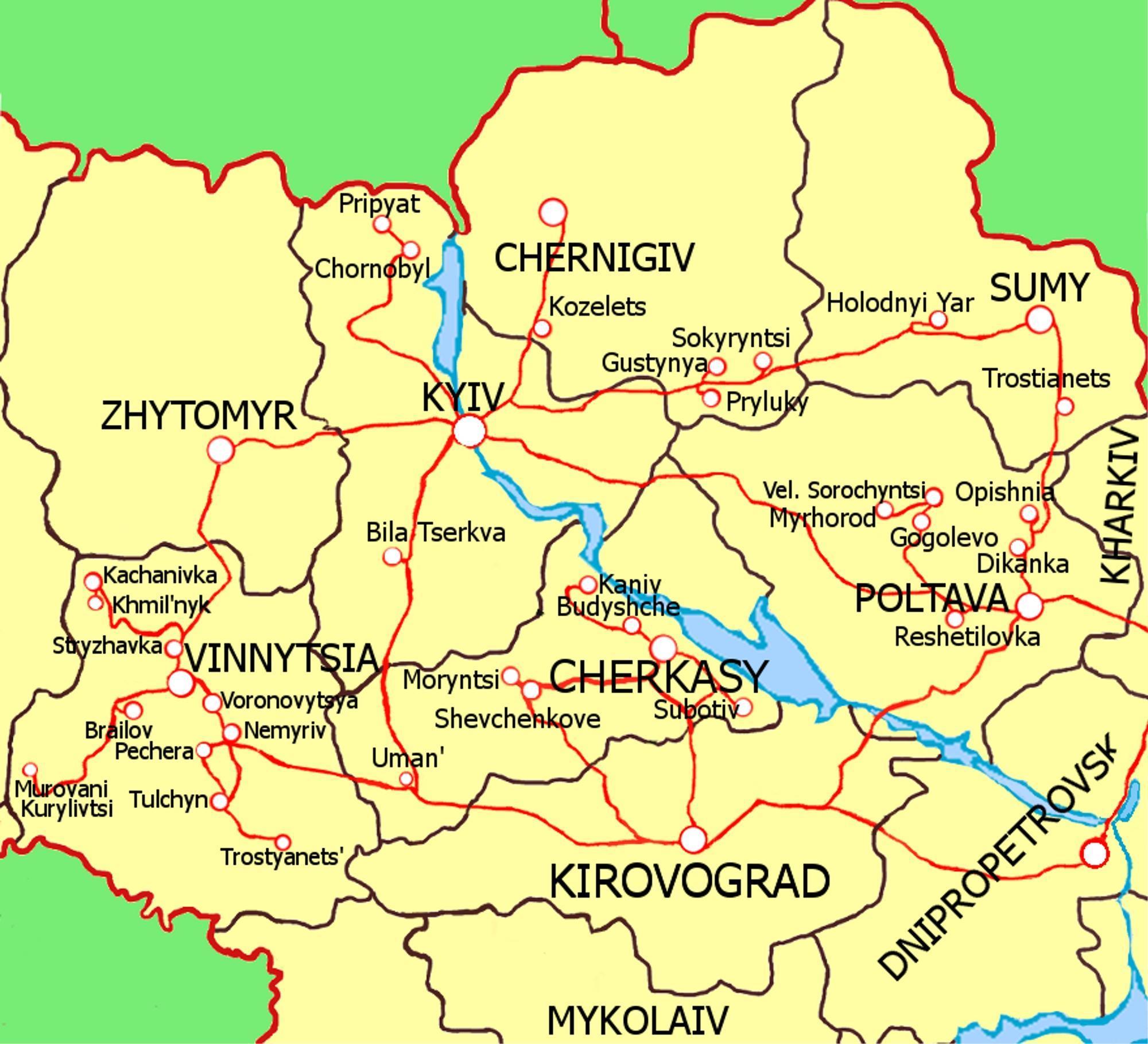 Экскурсионные туры по Украине из Киева